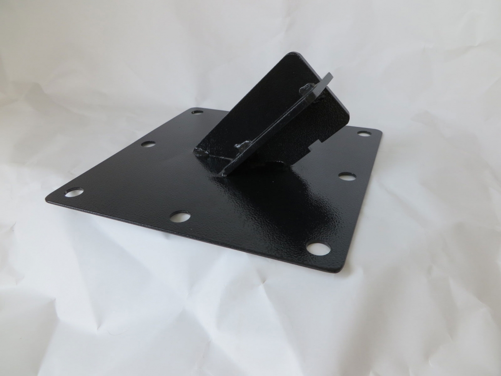 """10 X 10 MOUNT PLATE FOR 3"""" ABS PIPE DETAIL"""